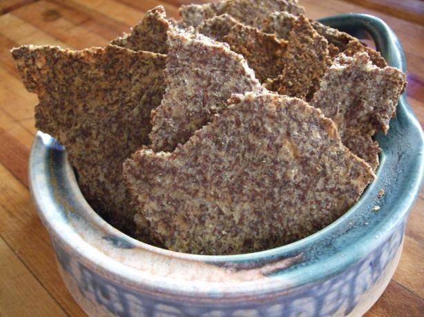 Garlic Parmesan Flax Seed Crackers - Low Carb!. Photo by zinnias n marigolds