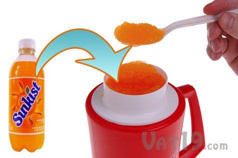 $10 Slush Mug Slurpee maker turns your beverage into a homeade Slurpee - doesn't work on diet soda though