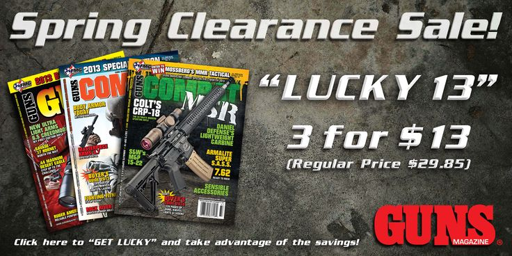 It's officially spring, and that means it's time for our FMG Publications Spring Clearance Sale! There are a variety of bundle packages of annuals available for purchase, including our Lucky 13 GUNS Bundle, which includes 3 specially chosen annuals for only $13! Make sure to grab this bundle before your luck runs out! Click the link in our bio to take advantage of the savings today! Click here: http://fmgpubs.com/store/products/lucky-13-guns/