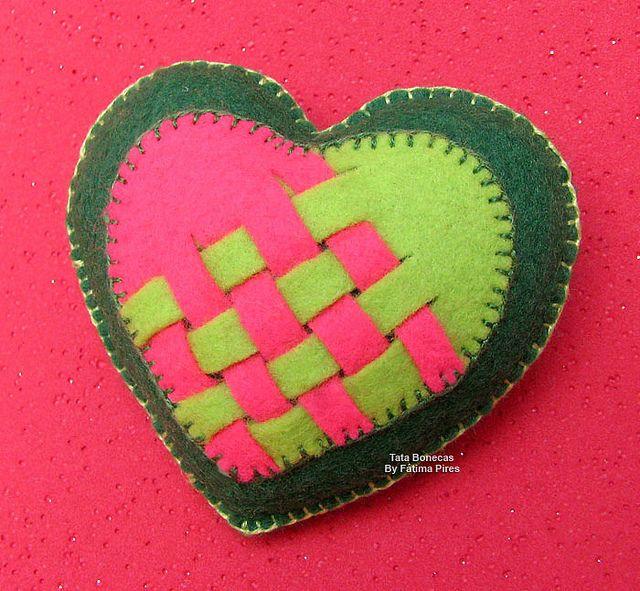 Coração em feltro | Flickr – Compartilhamento de fotos!
