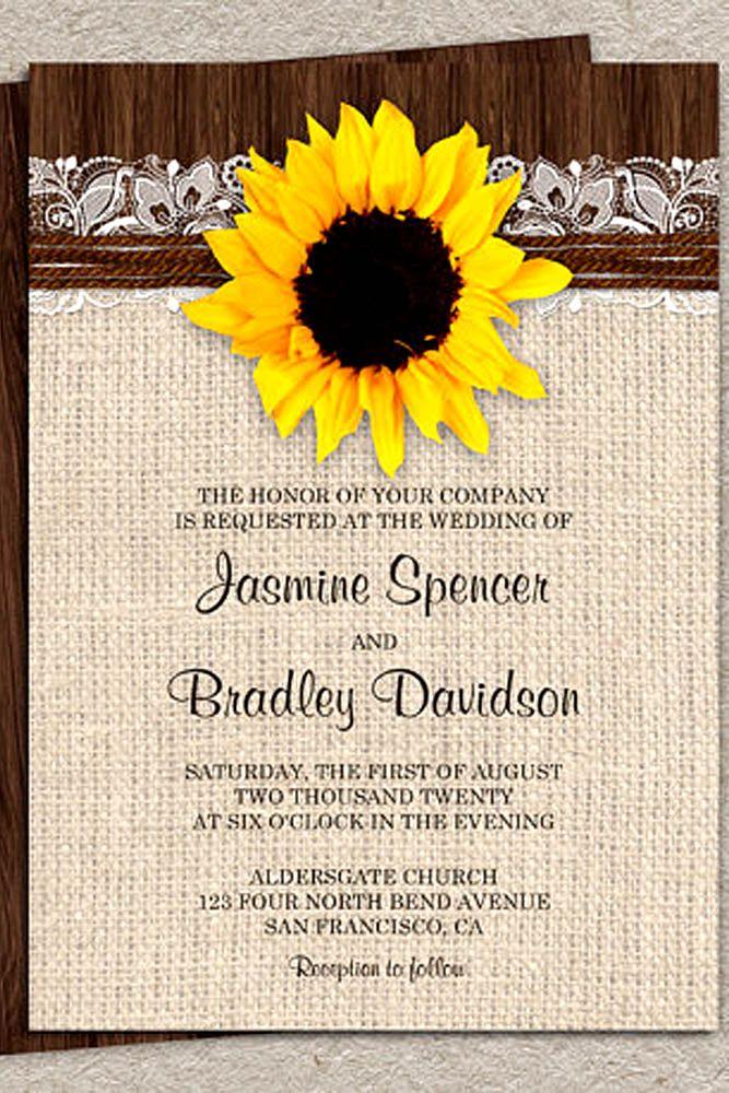 sunflower wedding invitations printable%0A    Shiny Sunflower Wedding Invitations