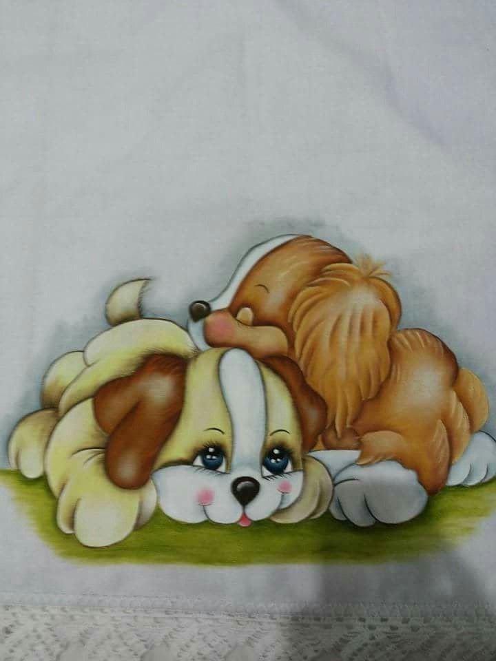 17 Melhores Imagens Sobre Cachorrinho Pintura Em Tecido