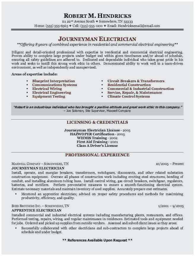 27 Sample Electrical Engineer Resume Pick A Resume Template And