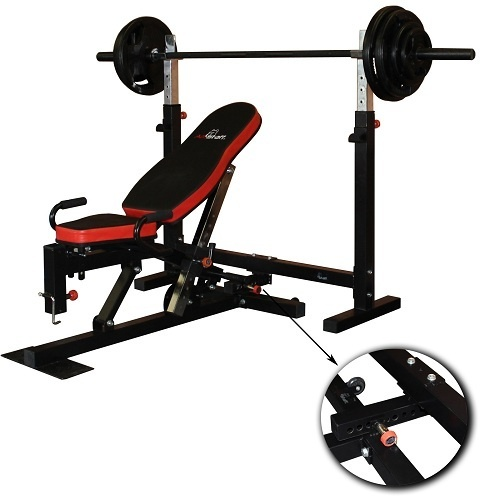 Need: Bench Press Rack/Incline Bench + Barbell/Weight Plates
