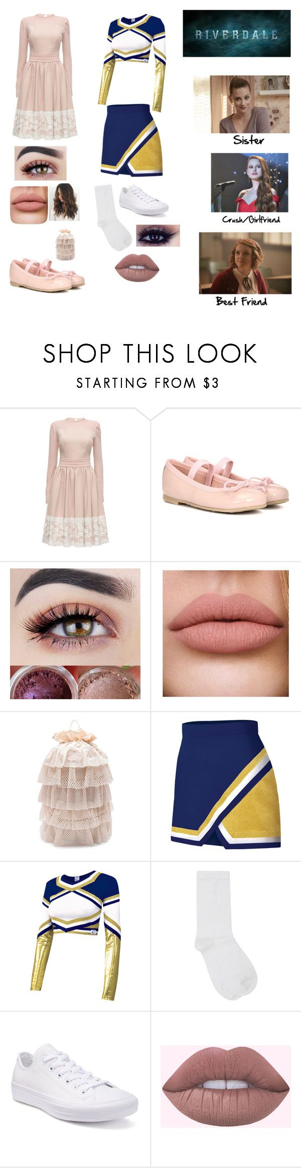 """""""#2 Riverdale OC Kelly Cooper"""" by fangirlgaming36 ❤ liked on Polyvore featuring Lattori, Pretty Ballerinas, Puma, Chassè, M&Co and Converse"""