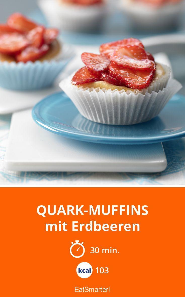 Quark-Muffins - mit Erdbeeren - smarter - Kalorien: 103 Kcal - Zeit: 30 Min.   eatsmarter.de