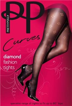 Pretty Polly Curves is speciaal ontworpen voor dames met een maatje meer. 60 Denier Diamond Fashion opaque panty. Maten 46 t/m 60.