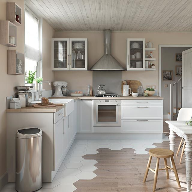Cuisine blanche Fog COOKE & LEWIS - CASTORAMA