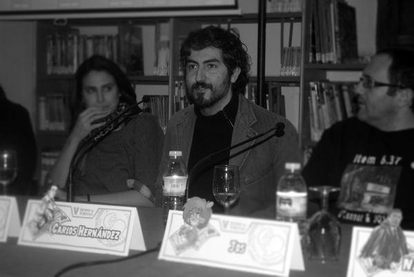 """V edición de Autores en Viñetas. Mesa """"Encuentro comiquero en Sevilla"""", Diego Galindo — en Carmona."""