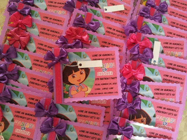 Dora the explorer invitations for a birthday party // Invitaciones de Dora la Exploradora para fiesta de cumpleaños  #Doratheexplorer #birthday #invitations #fiesta