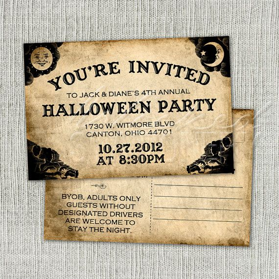 ouija board halloween invitation postcard by. Black Bedroom Furniture Sets. Home Design Ideas
