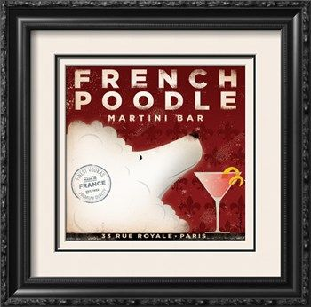 French Poodle Martini Art Print by Stephen Fowler at Art.com