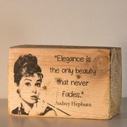 Foto Transfer Audrey Hepburn madera reciclada palet