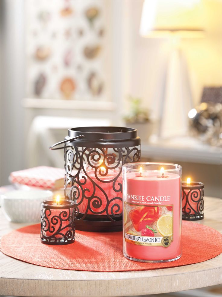 Strawberry Lemon Ice - Refresh your home with the cool scent of just-picked strawberries and strips of lemon peel crisped in ice.