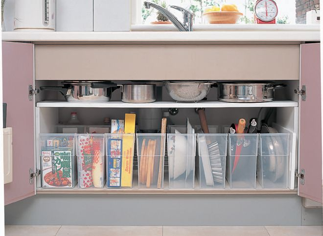 Japanese apartment kitchens can be small. Here are some inexpensive ways to organize your Japanese apartment kitchen to maximize the space.