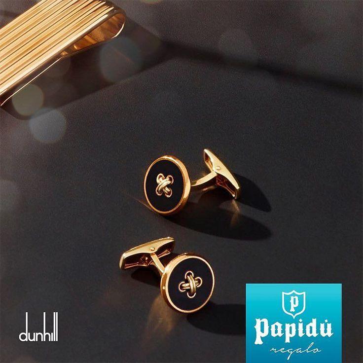 Cámbiale el estilo a papá con las mancuernillas botón de oro de #Dunhill. Te esperamos en #JoyeriaPapidu.  #Jewelry #ExclusivoPapidu #Luxury #PapiduJoyas #fathersday #papá
