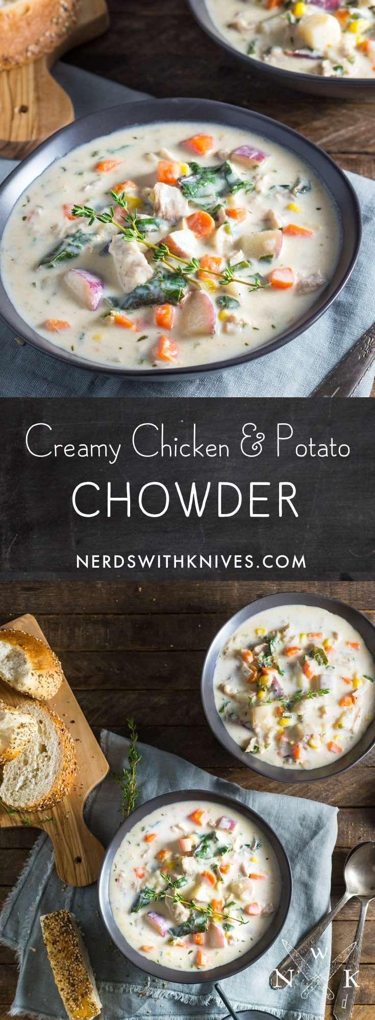 Creamy Chicken And Potato Chowder