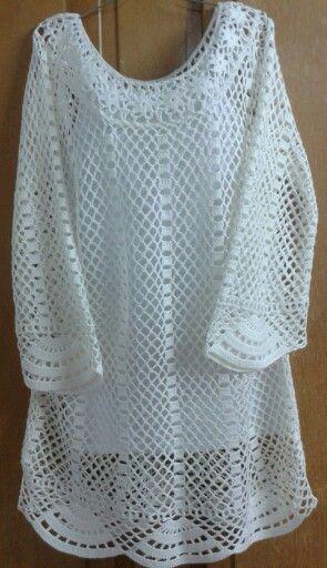 Mi versión de una blusa que encontre e pinterest...tamaño xxl