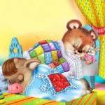 Gif анимация Маленький щенок и утенок Анимашки и блестяшки на телефон анимационные гиф картинки и открытки поздравления