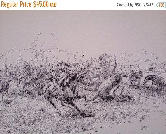 Western Art Wagon Print Wild West Art Charles by WeFindVintage