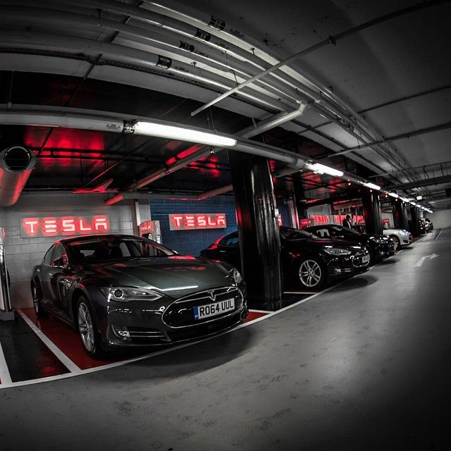 Our largest underground Supercharger station in Europe, located in Westfield London, just got its final touch. #cars #tesla #vehicles #F4F #tagforlikes