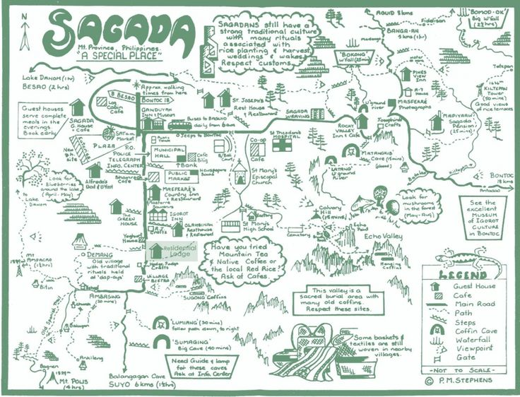 Map of Sagada, Philippines
