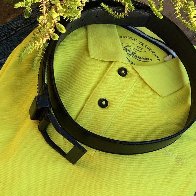 Lime Yellow golfer from #esprit in our fashion shoot recently #KASPARI #a #carbonfiber #buckle #belt with #style That #is #whatsetsyouapart .#acceleratedevolutionBecause freedom is #priceless#iphone#i