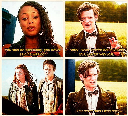 """You never said I was hot?"" DoctorWho"