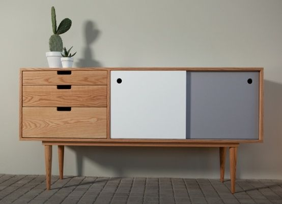 Sideboard kann design wood storage drawer office living room hal - Armoire design scandinave ...