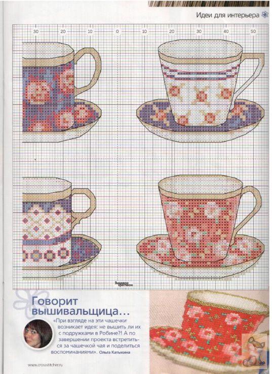 89 best bordado images on pinterest cross stitches for Cross stitch kitchen designs