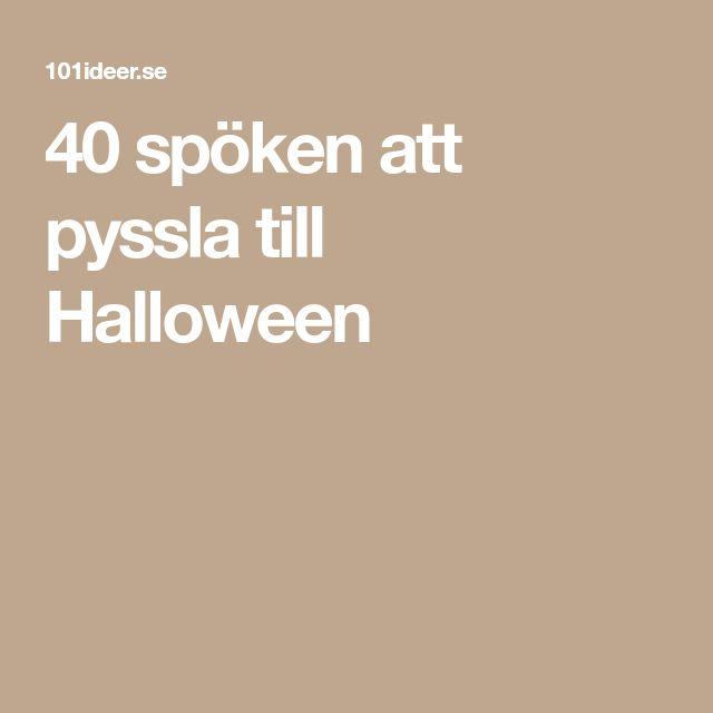 40 spöken att pyssla till Halloween