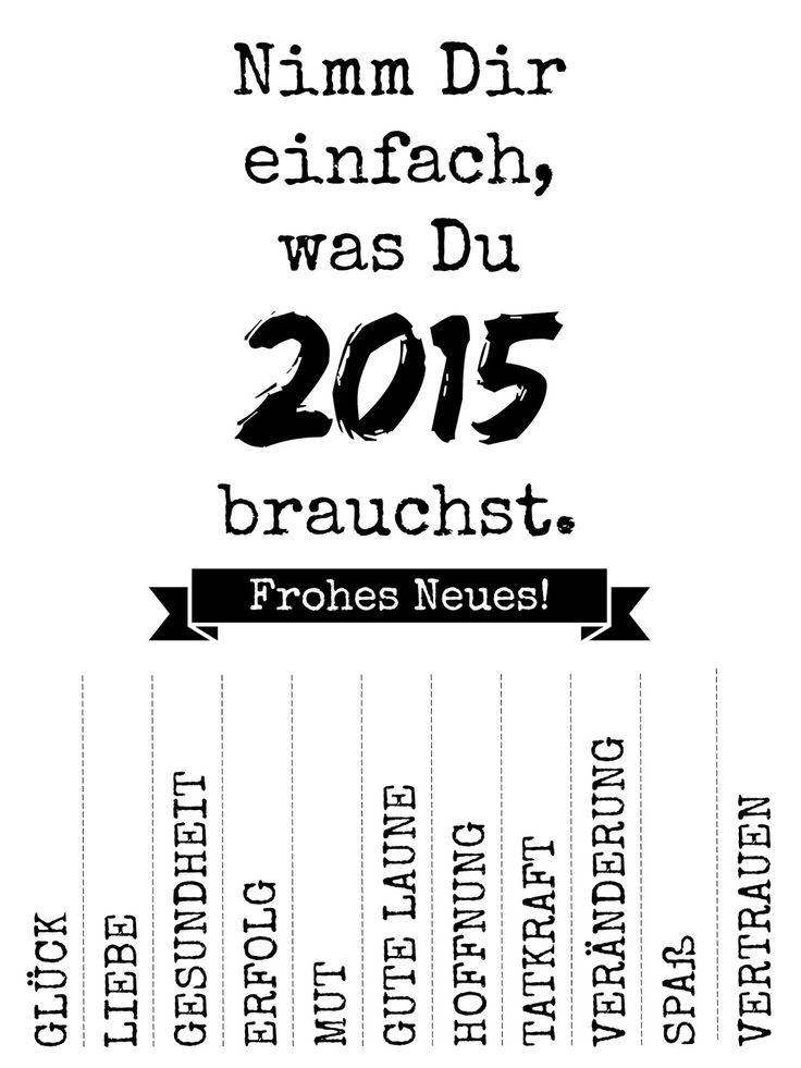 Nimm Dir einfach, was Du 2015 brauchst! {Freebie}: heimatPOTTential