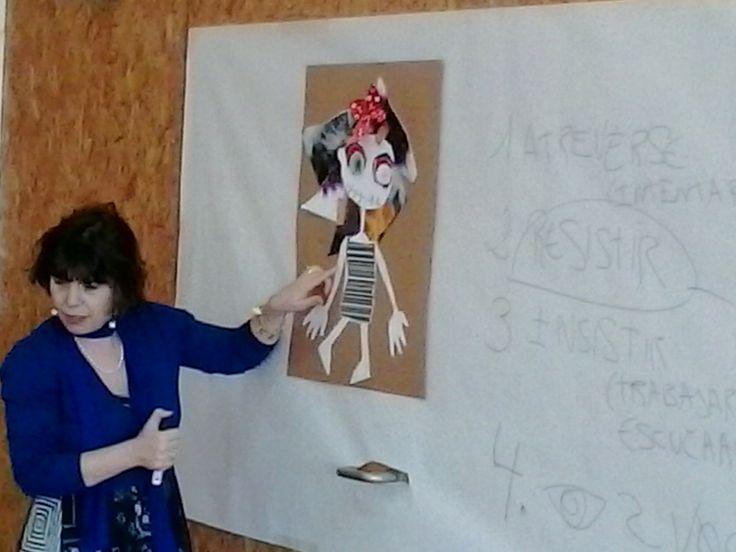 Violeta nos cuenta como va elaborando sus dibujos