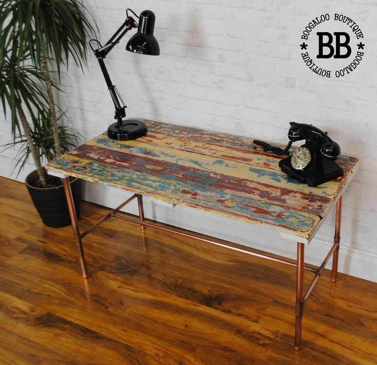 Upcycled Boat Plank Reclaimed Pallet Coffee Table Copper ...