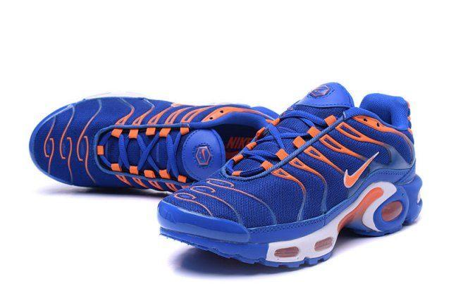 Best Sell Nike Air Max Plus TXT Royal Blue Orange White Sneakers ...