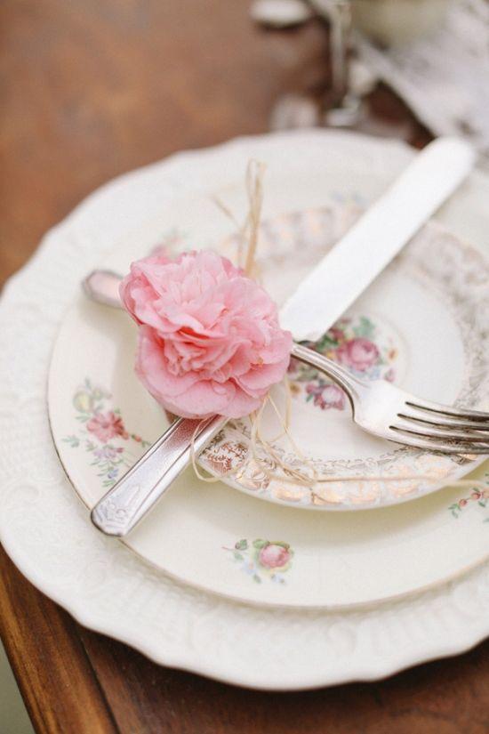 Sweet Heirloom Garden Wedding Inspiration. Plate DisplayVintage ChinaVintage  TeaVintage Table SettingsWedding ...