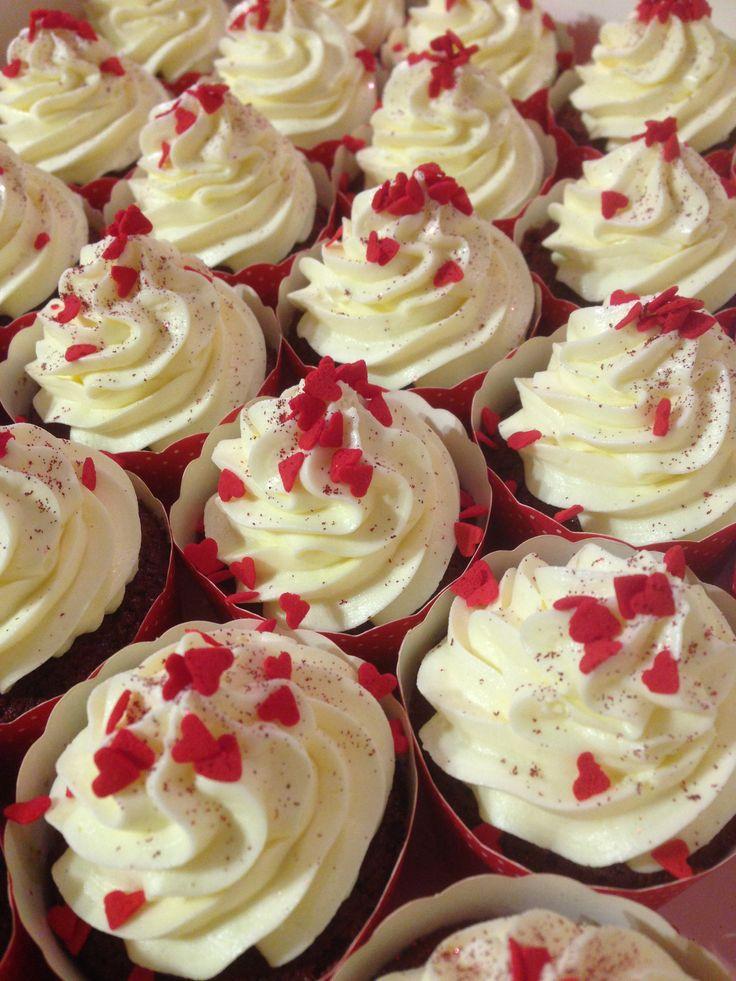 Ruby red velvet cupcakes ❤