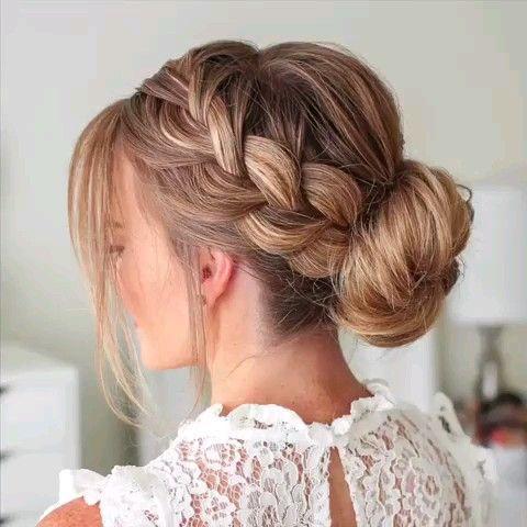 Cute DIY Braid Bun Hair Tutorial