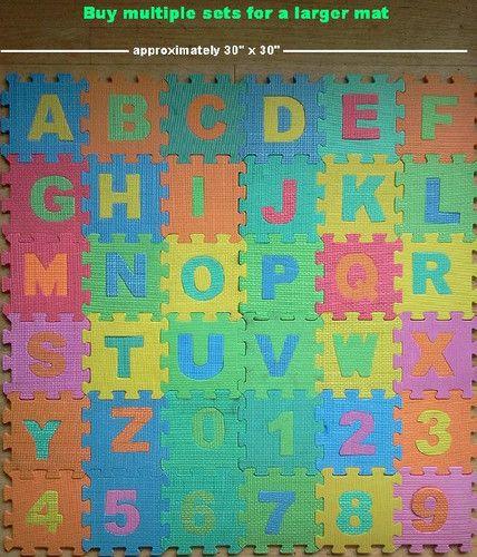 30 Quot Sq Abc 123 Foam Puzzle Mat Ages 3 Up Educational