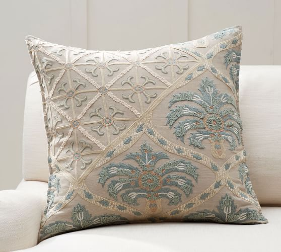 Zerrin Suzani Embroidered Pillow Cover | Pottery Barn