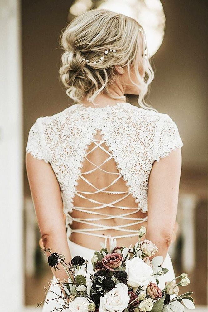 30 Wedding Updos For Short Hair ❤️ wedding updos for short hair light curls blond hair morganhairco ❤️ See more: http://www.weddingforward.com/wedding-updos-for-short-hair/ #weddingforward #wedding #bride #weddingupdos #shorthair