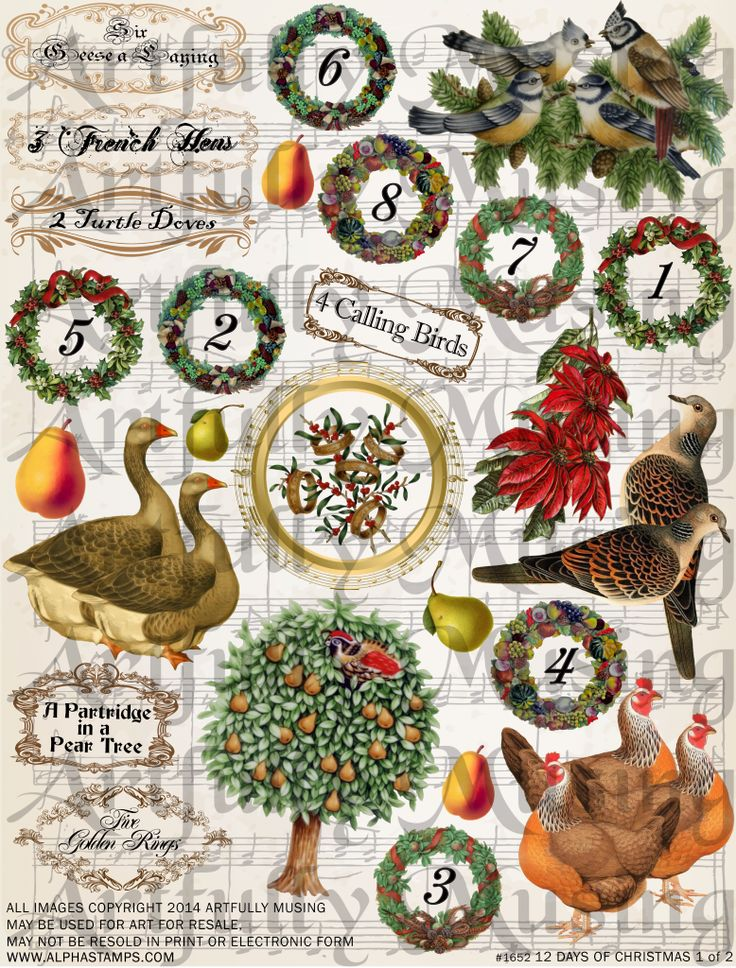 289 best 12 Days of Christmas images on Pinterest | 12 days ...