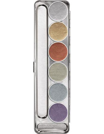 Kryolan Aquacolor - Aquacolor Metallic Palette 6 colors - Palettes #kryolan #aquacolor #makeup