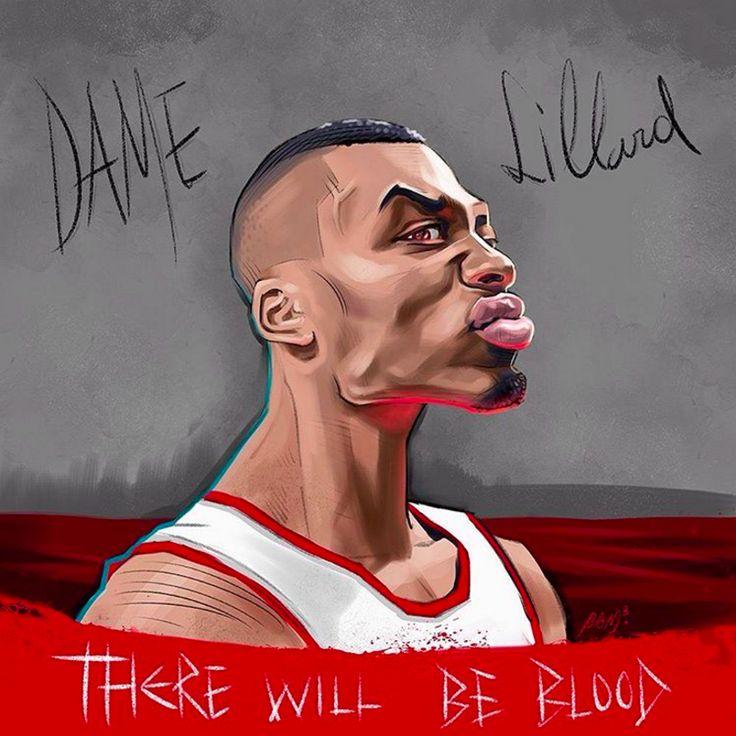 Damian Lillard 'There Will Be Blood' Illustration