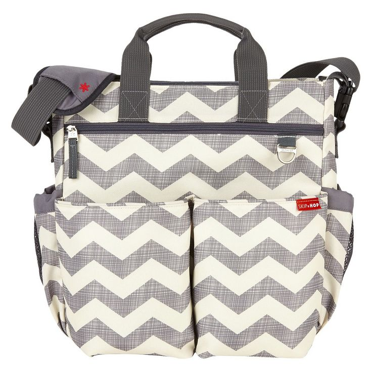 Skip Hop Duo Signature Diaper Bag - Chevron. Super cute diaper bag! It's a little smaller but perfect for under a stroller
