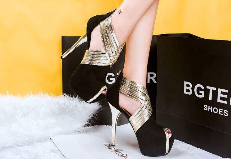 Размер 34 39 Европейский стиль Стилет сексуальная металл женщины на высоких каблуках Красные Нижние Высокие Каблуки женская Обувь Свадьбы партийные Женщины Насосы купить на AliExpress