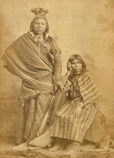 American Indian Brave and Squaw