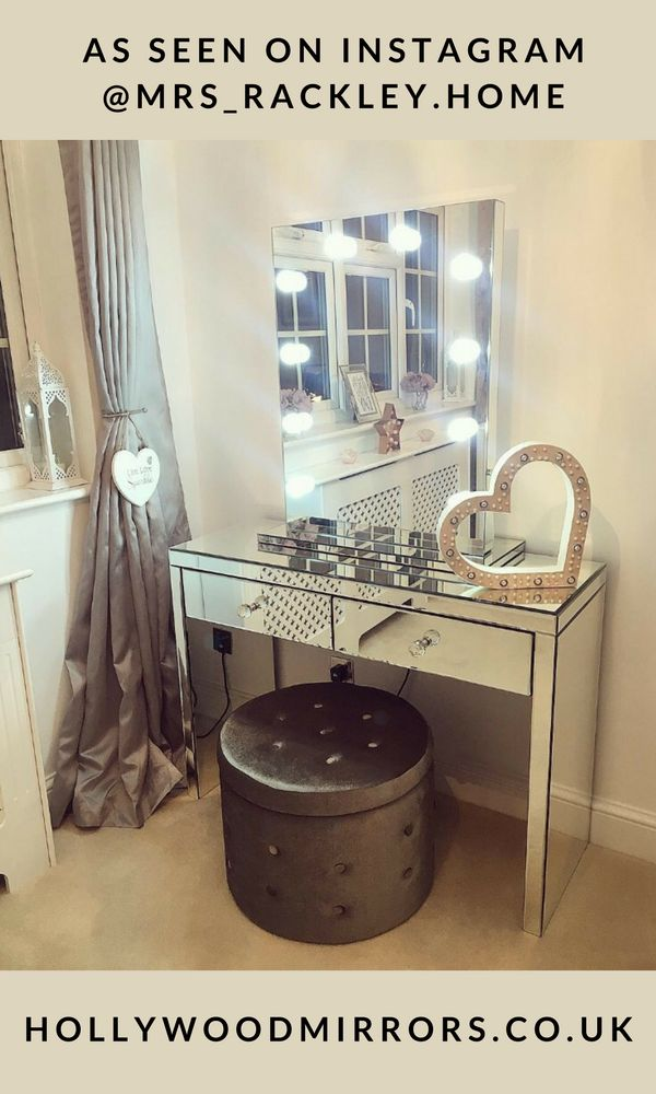 Wonderful Diaz Hollywood Mirror Portrait 80 X 60cm Free Standing + Wall Mounted. Dressing  Table ...