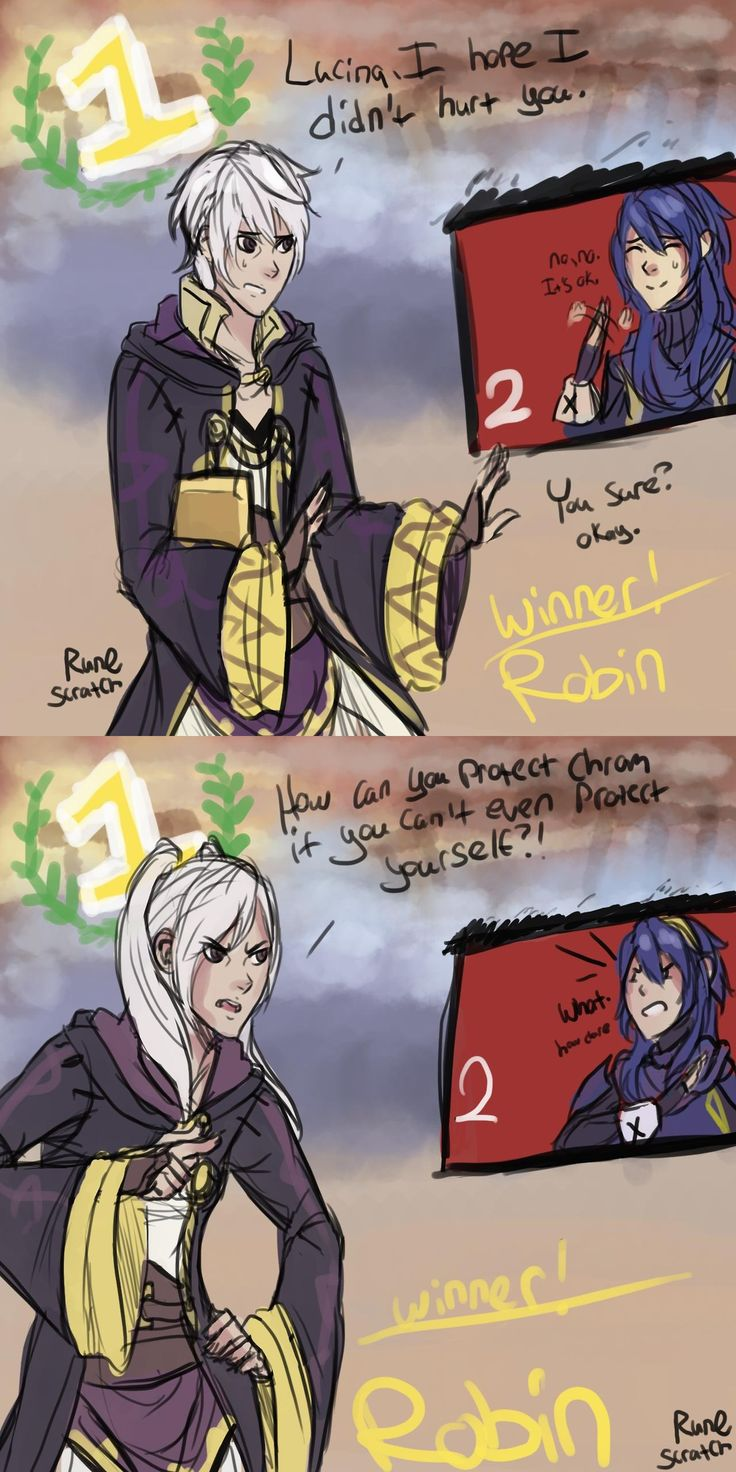 I hear Robin (male) apologize every time he beats Lucina. Never played female Robin before so... XD