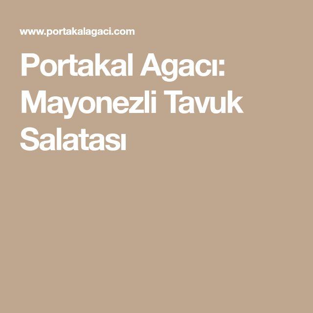 Portakal Agacı: Mayonezli Tavuk Salatası